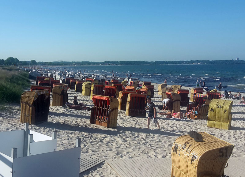 Scharbeutz Strand im Sommer
